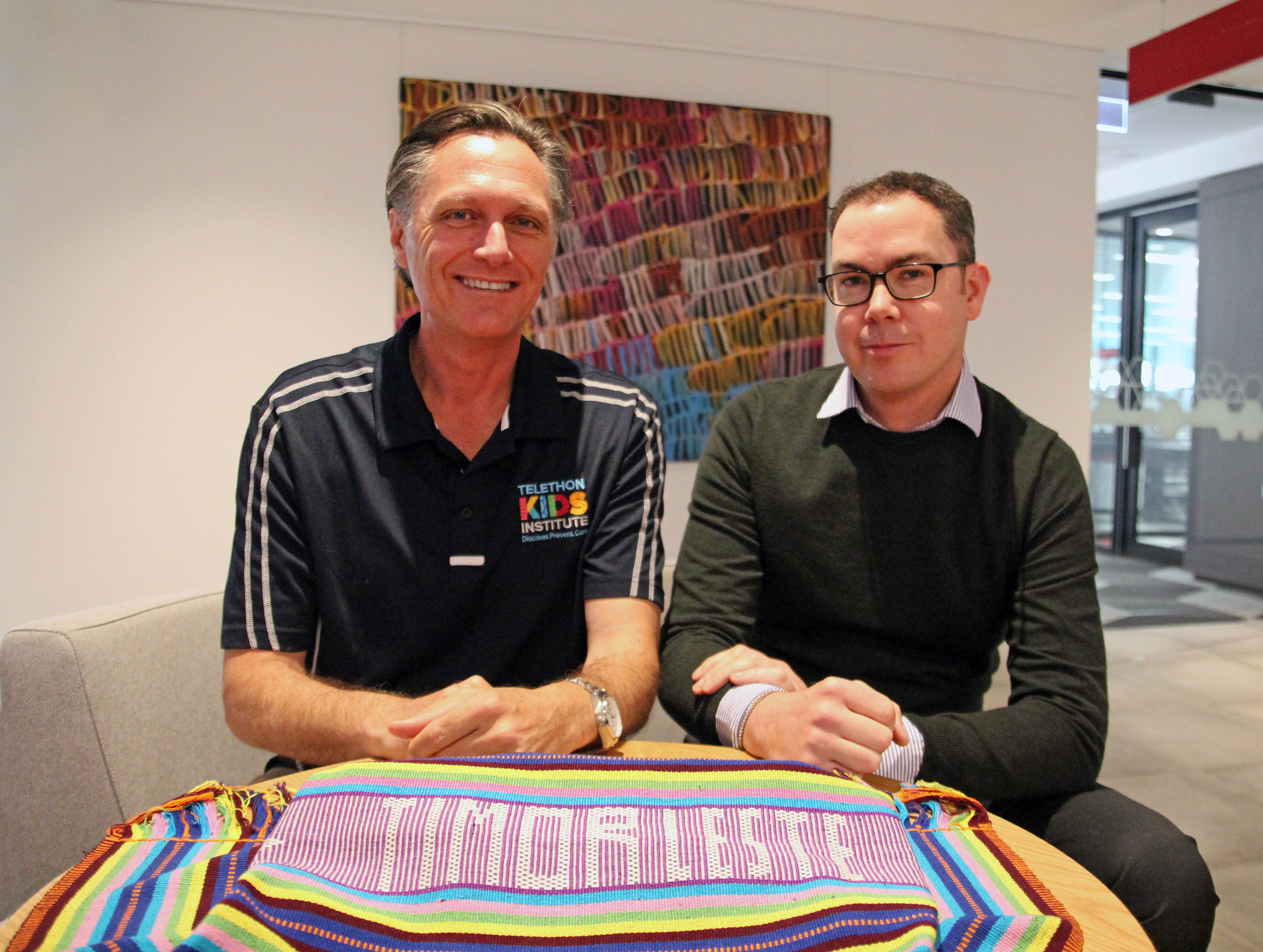 Co-authors of the paper from Telethon Kids Institute and Reach, Professor Jonathan Carapetis and Timothy Johnson