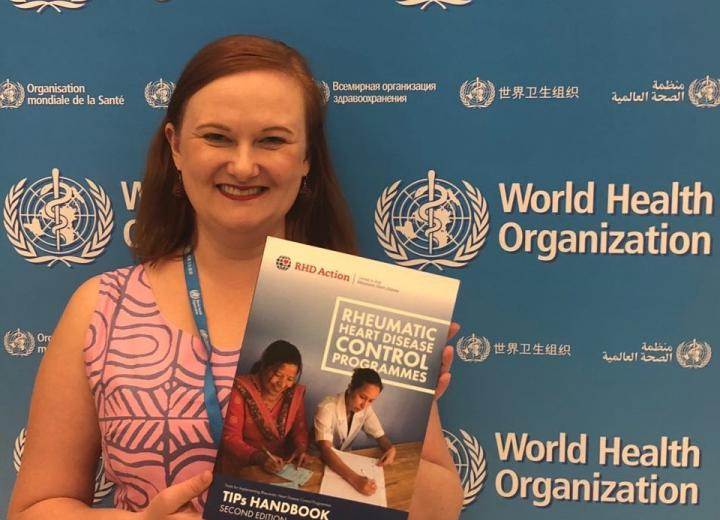 Dr Rosemary Wyber, lead author of Tools for Implementing RHD Control Programmes (TIPs)